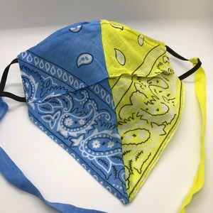 Paisley Bandana Luxury Face Mask - Hand Made